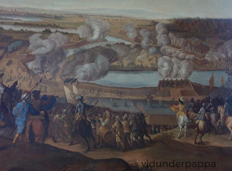 """Det var mye """"Game of Thrones"""" å se på de gamle maleriene som prydet veggene i Läckö Slott."""