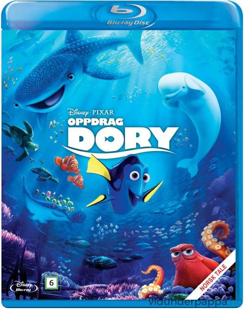 """Filmen """"Oppdrag Dory"""" får du både som DVD og Blu-ray fra 5. desember av."""